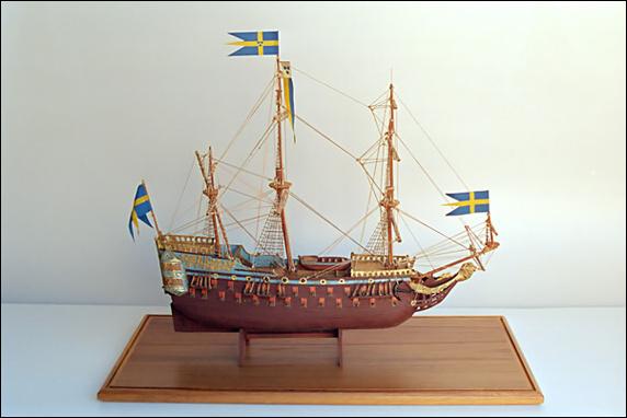 Wasa laiva pienoismalli